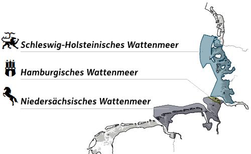 Karte vom Wattenmeer