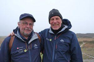 Jürgen Dreckschmidt (rechts) mit Nationalpark-Ranger Jochen Runar