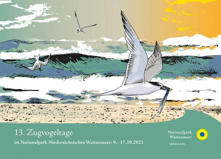 Postkarte 13. Zugvogeltage