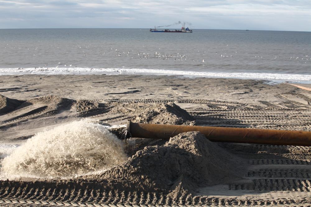Sandaufspülung auf Sylt