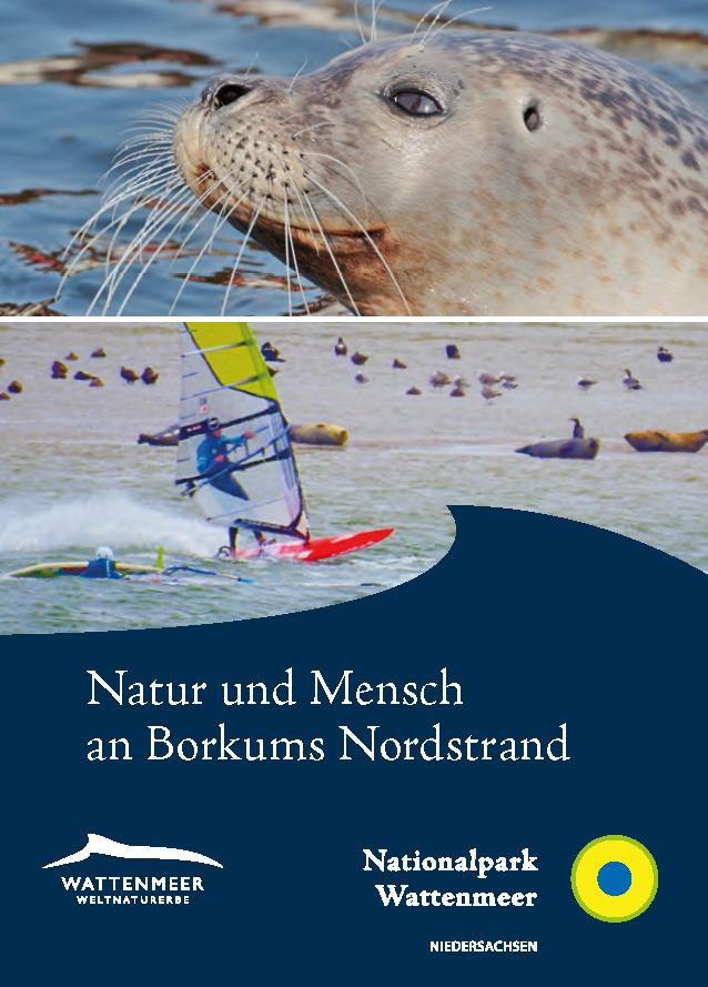 Titel Faltblatt Mensch und Natur an Borkums Nordstrand