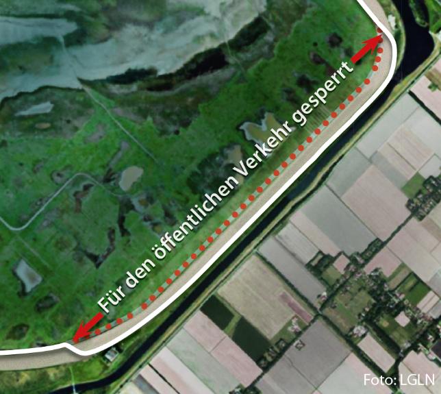 Karte Umleitung Leybucht