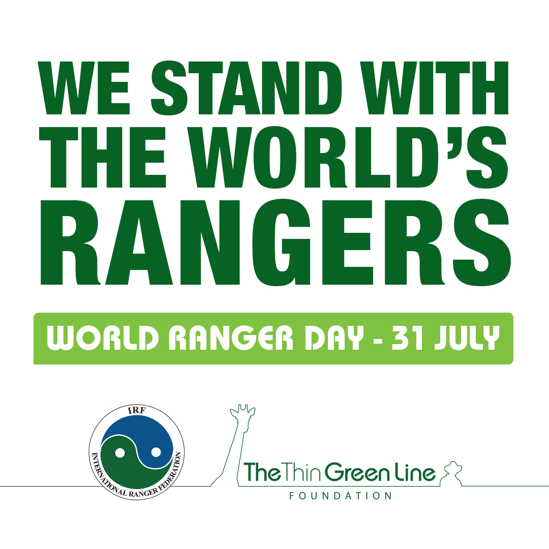 Banner We stand with the world's rangers