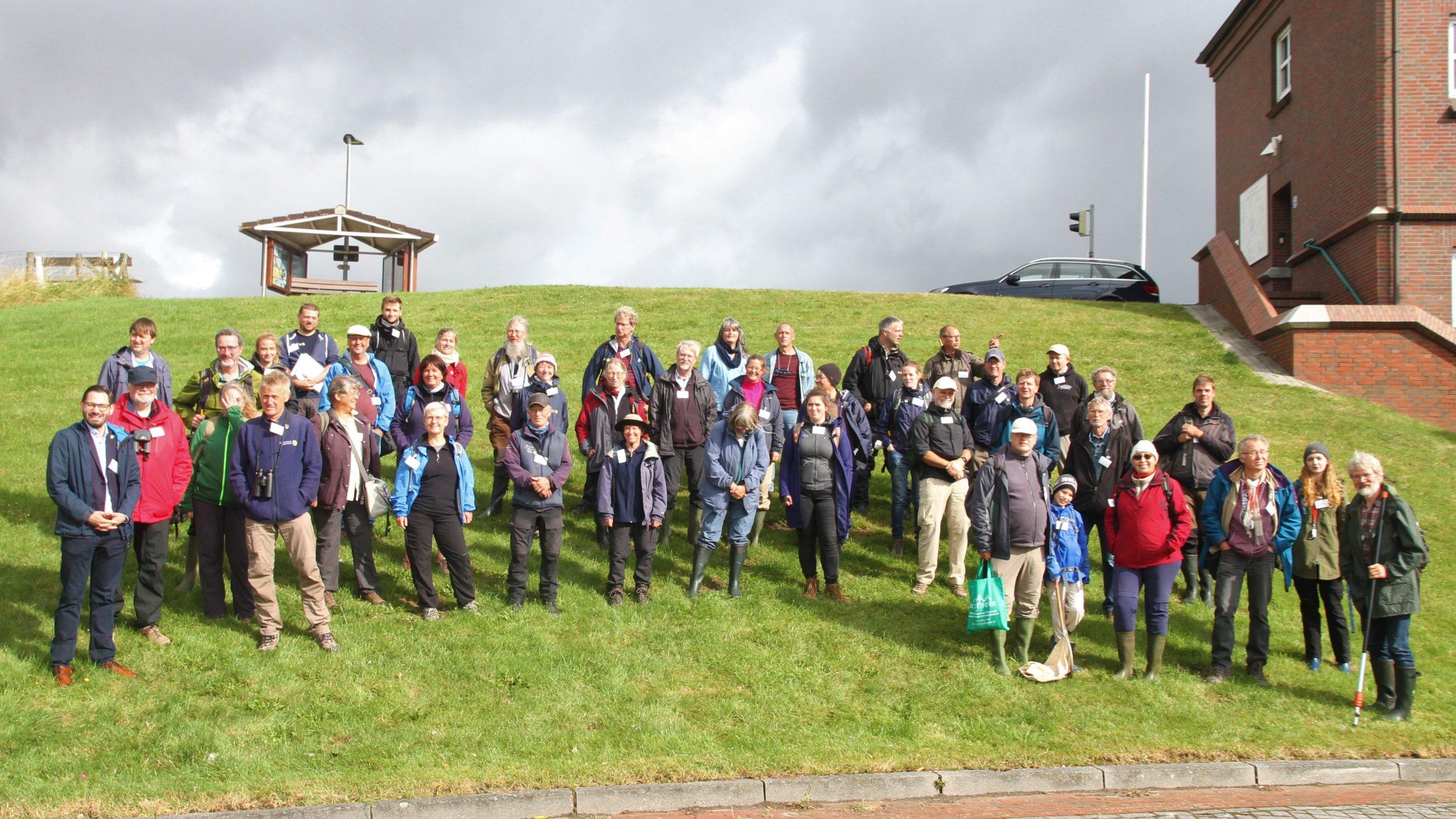 Die Teilnehmer:innen beim GEO-Tag der Natur an der Leybucht 2021