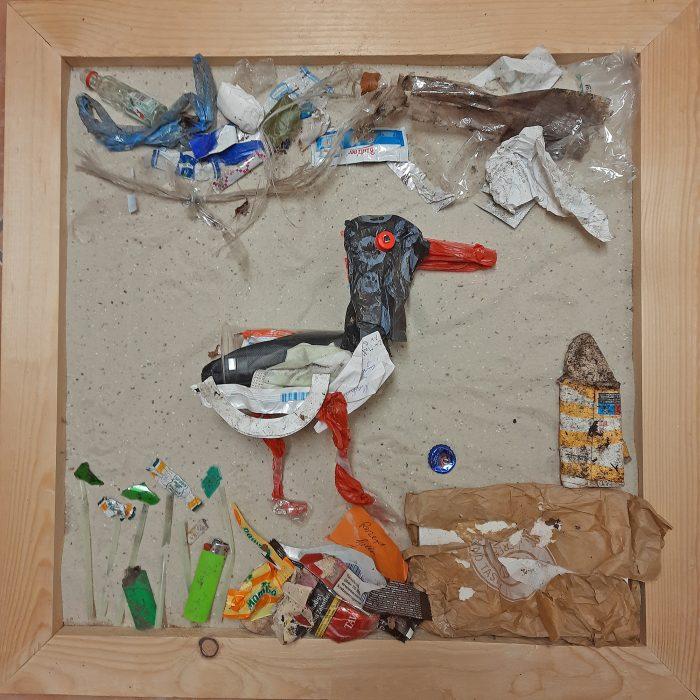 Austernfischer aus Plastikmüll