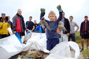 Müllsammlung Minsener Oog 11.09.2021