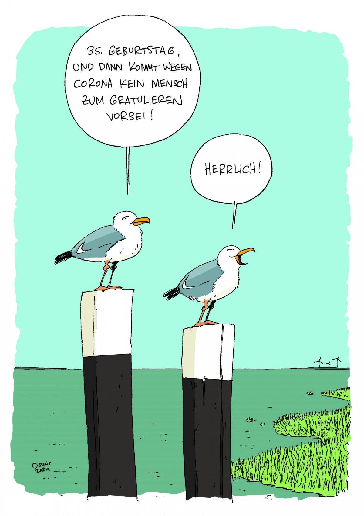 Cartoon Denis Metz 35 Jahre Nationalpark